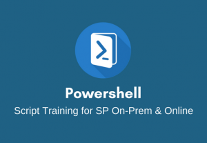 I will train you on PowerShell Scripting for SharePoint On-Prem and Online.