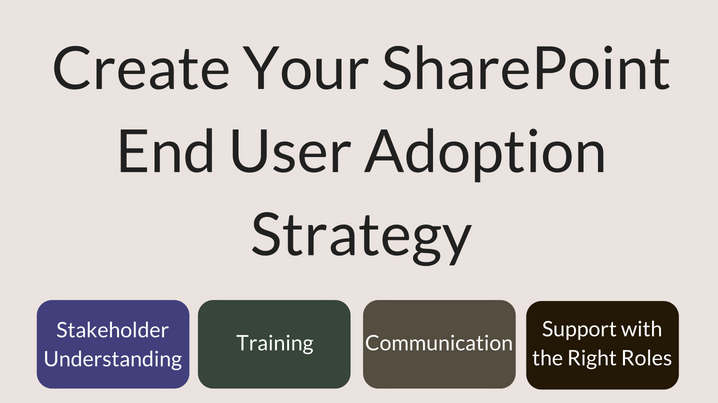 I will coach you on SharePoint End User Adoption