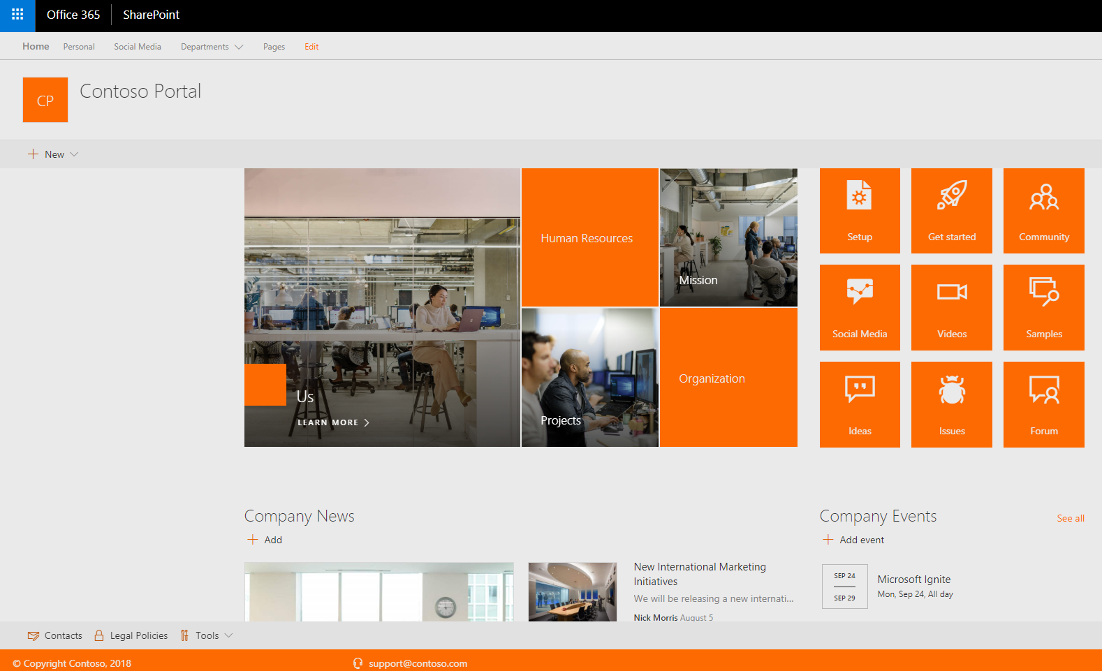 I will deploy a Sharepoint Starter Intranet Package