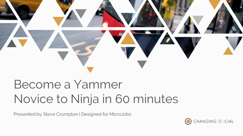 I will take you from Yammer Novice to Ninja in 60 minutes