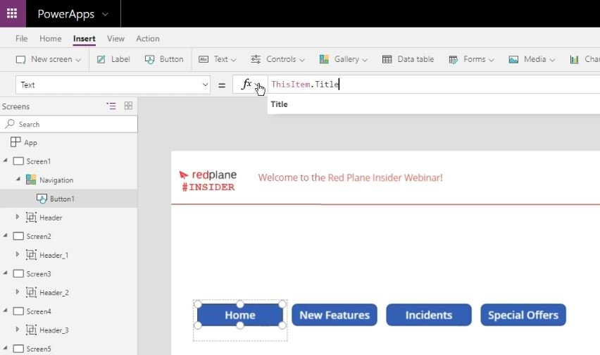 Building consistent User Interfaces across multiple PowerApps