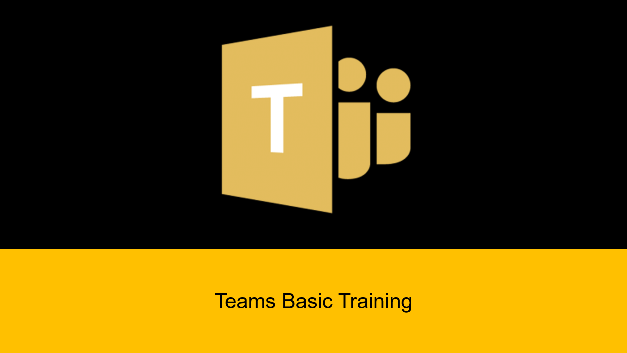 I will provide basic training on Microsoft Teams