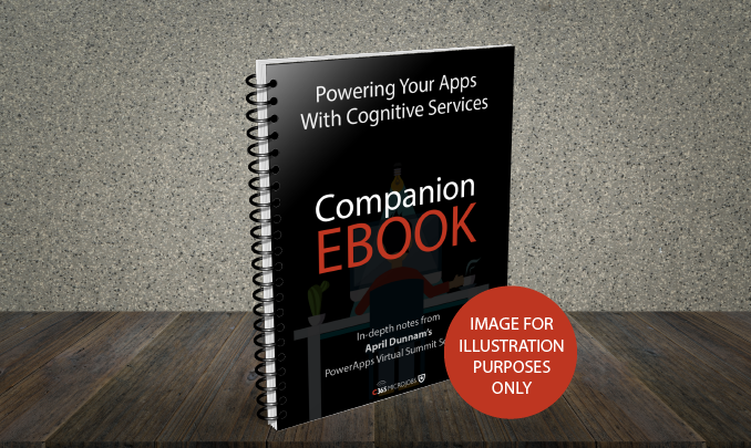 Download the Powering your Apps with Cognitive Services Companion Ebook