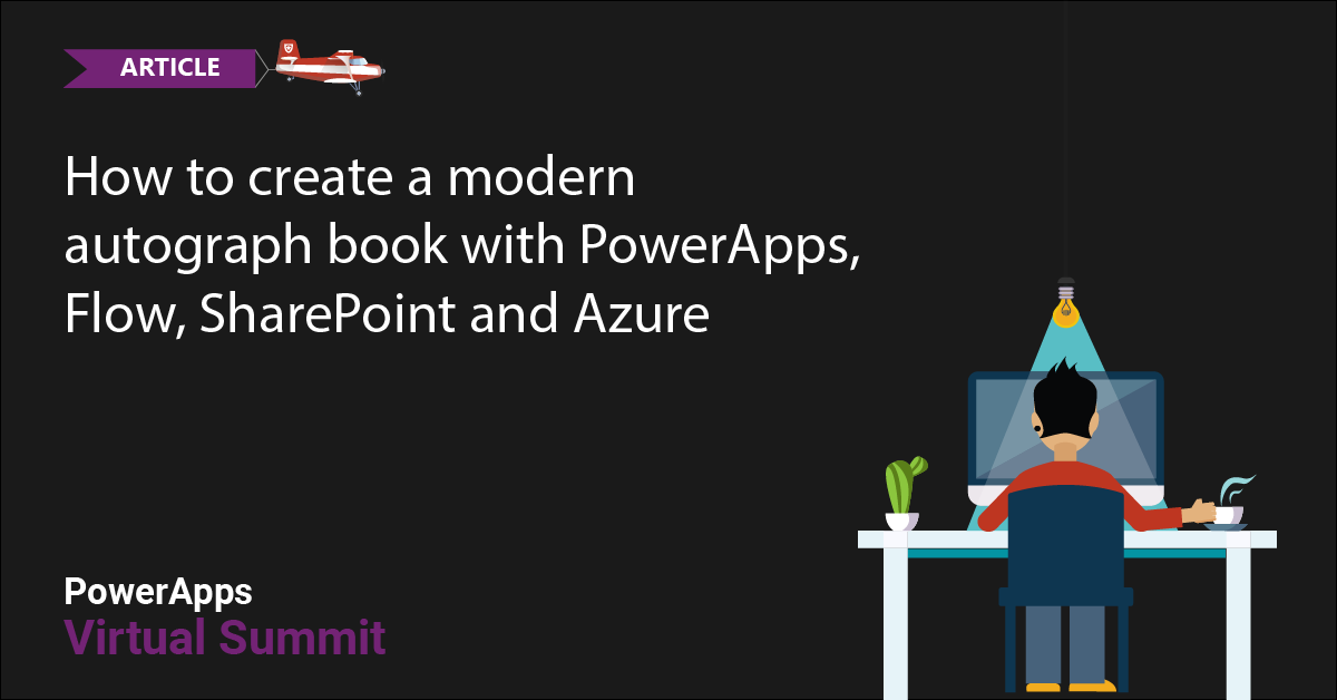 Creating an autograph book with PowerApps, Flow, SharePoint