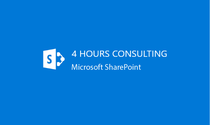 I will provide 4 hours of SharePoint Consulting Service
