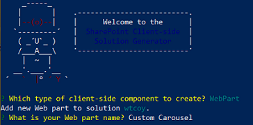 A Custom branded SharePoint Framework SPFx Carousel Web Part